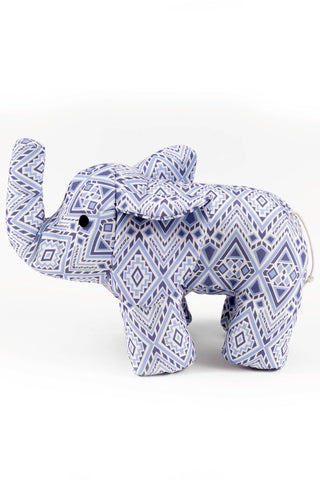 Ivory Ella Accessories Diamond Mosaic Stuffed Elephant
