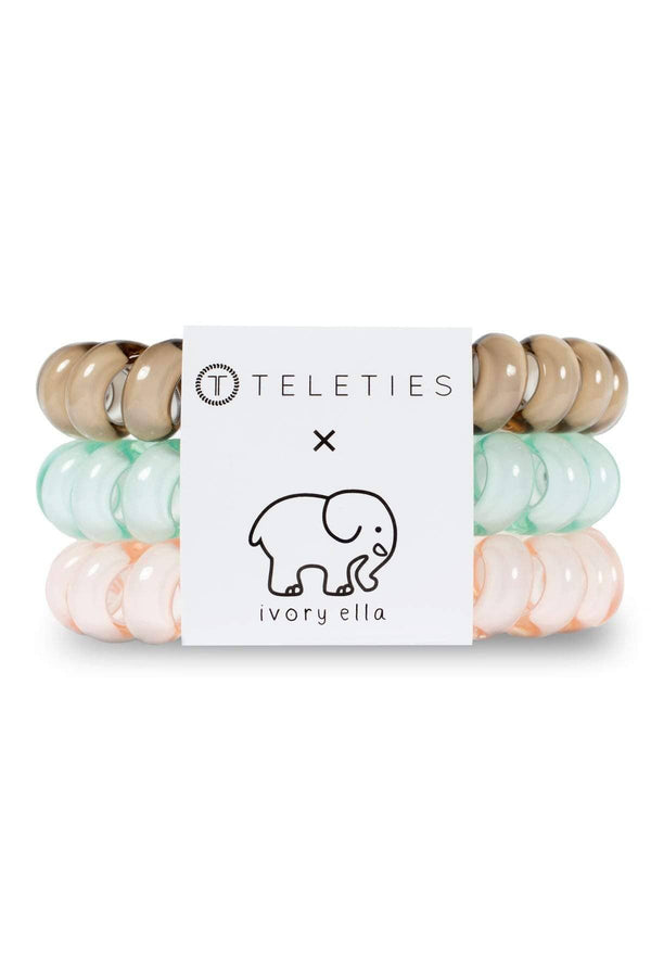 Large 3 Color Teleties by Ivory Ella