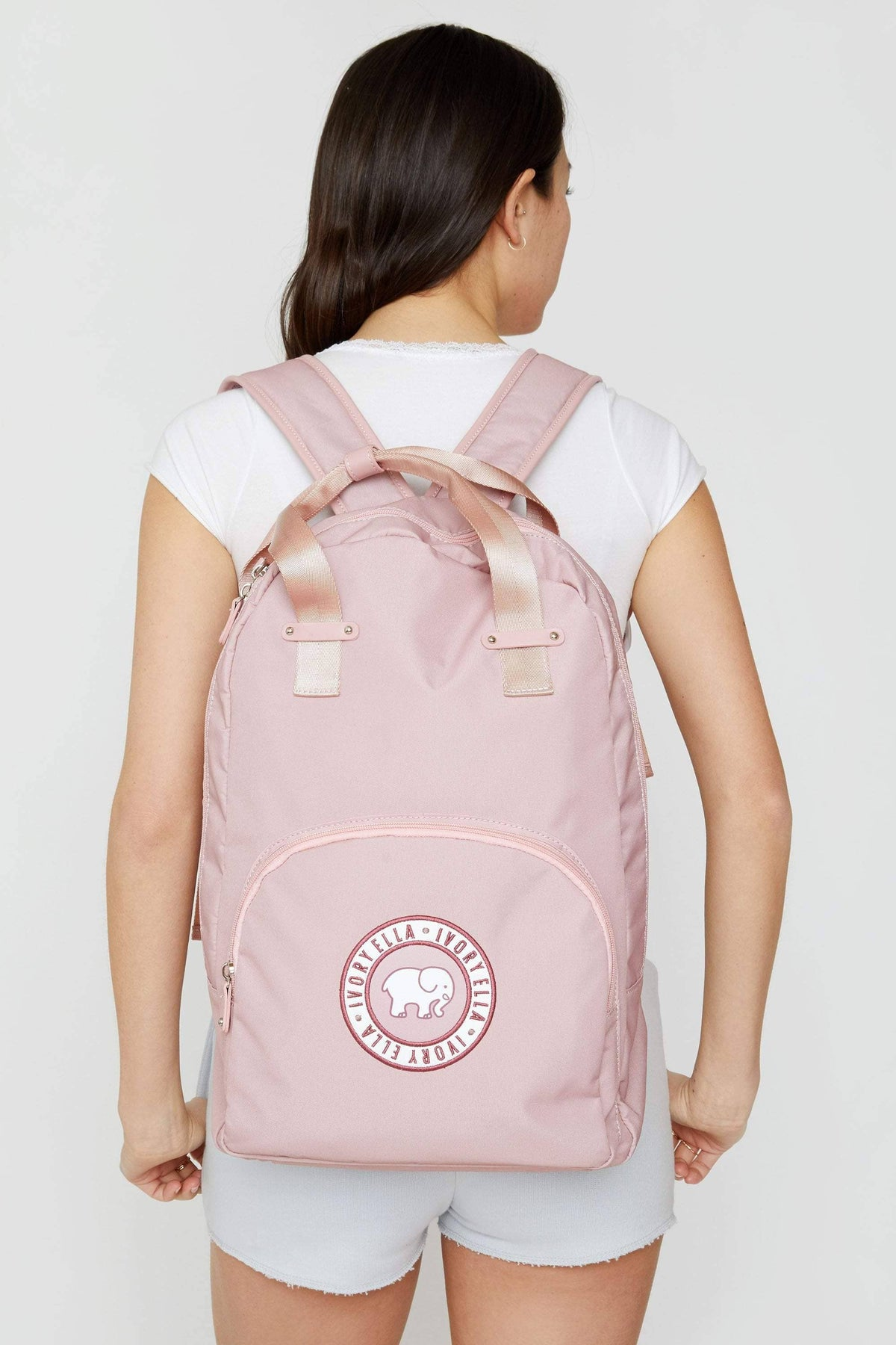 Ivory Ella Accessories Light Pink Core Backpack
