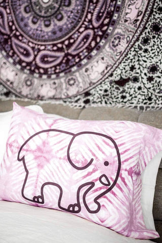 Ivory Ella Accessories Orchid Tie Dye Pillowcase Set