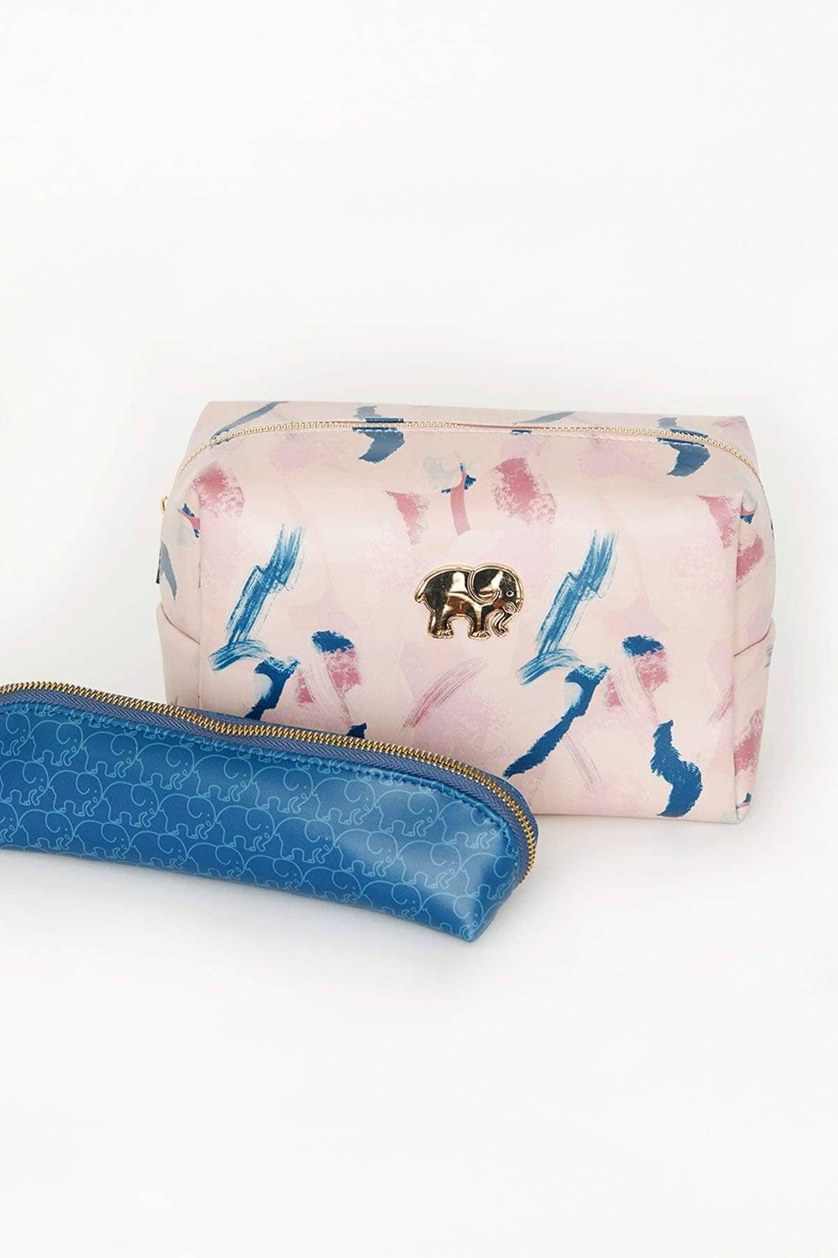 Ivory Ella Accessories OS Abstract Paint Cosmetic Case Set