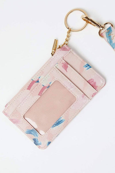 Ivory Ella Accessories OS Abstract Paint Lanyard ID Case