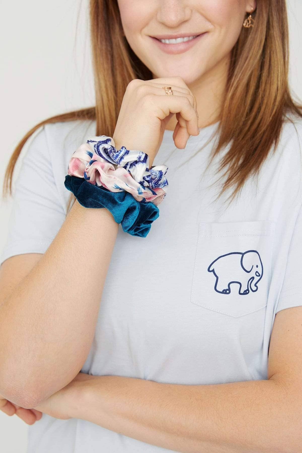 Ivory Ella Accessories OS Abstract Paint Scrunchie Set