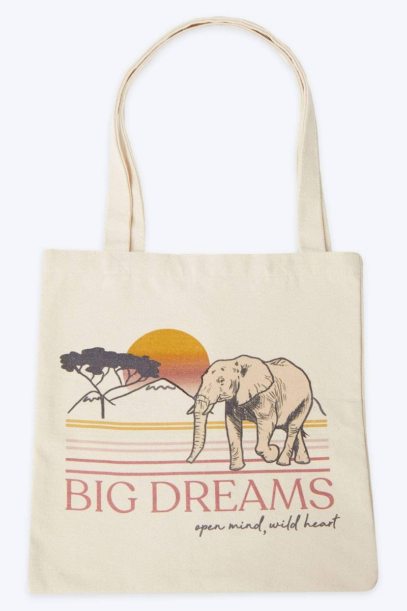 Ivory Ella Accessories OS Big Dreams Canvas Tote