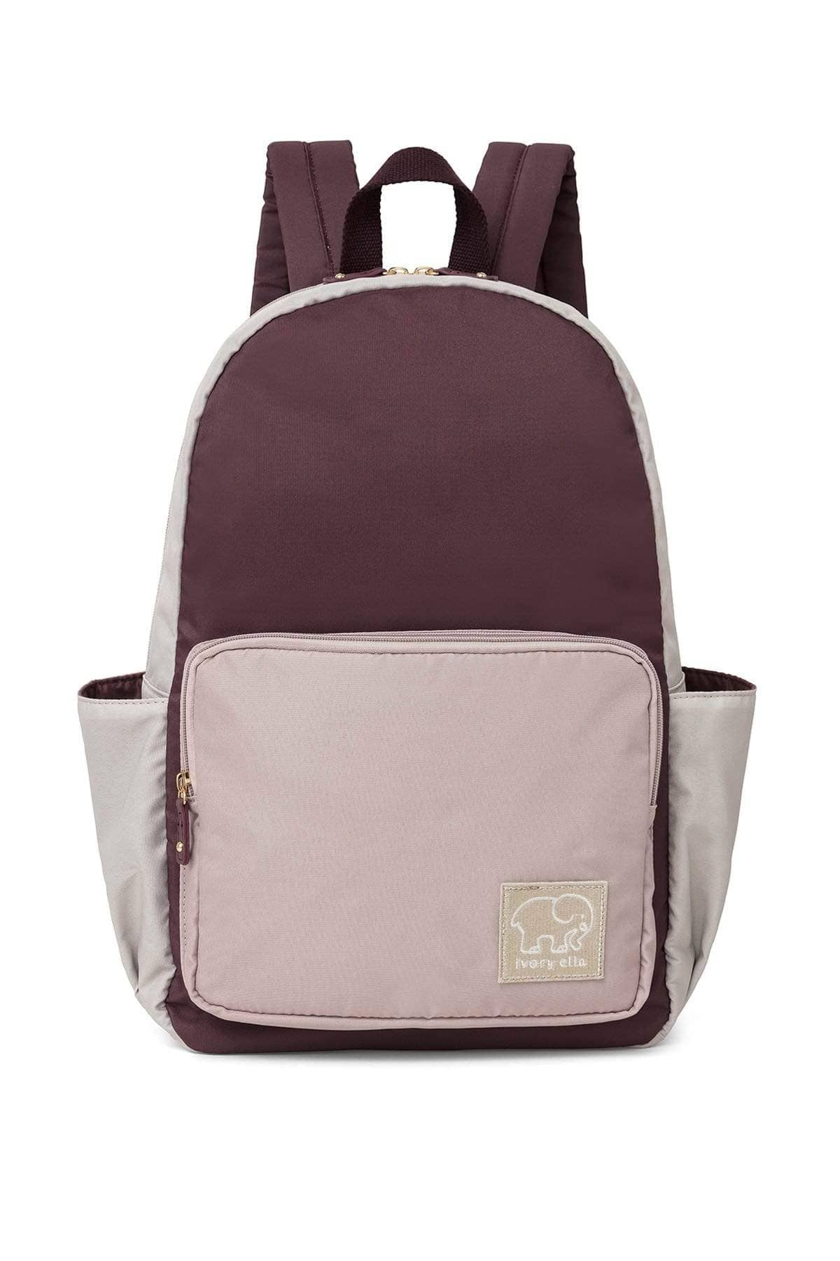 Eggplant Colorblock Backpack - Ivory Ella - Accessories