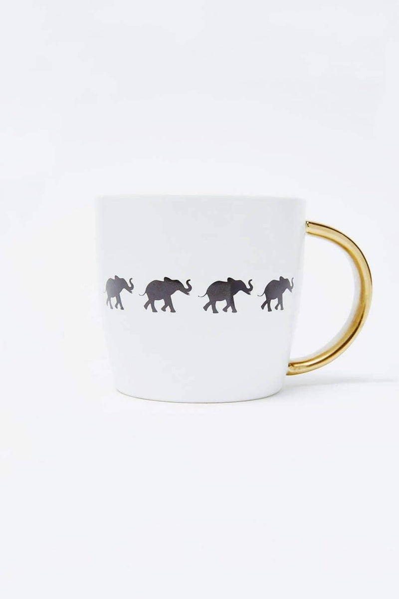 Ivory Ella Accessories OS Elephant Tribe Mug