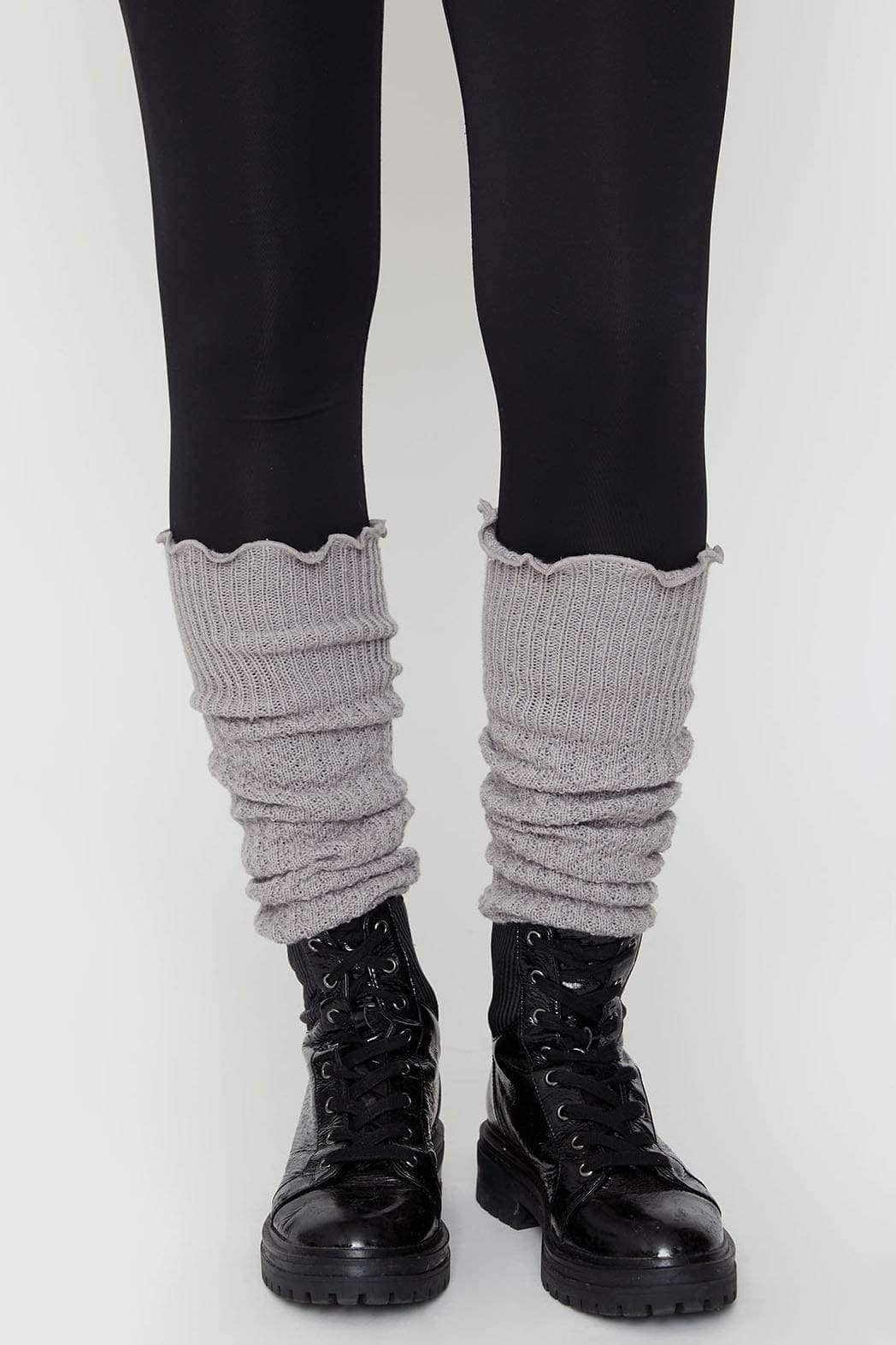 Ivory Ella Accessories OS Grey Leg Warmers