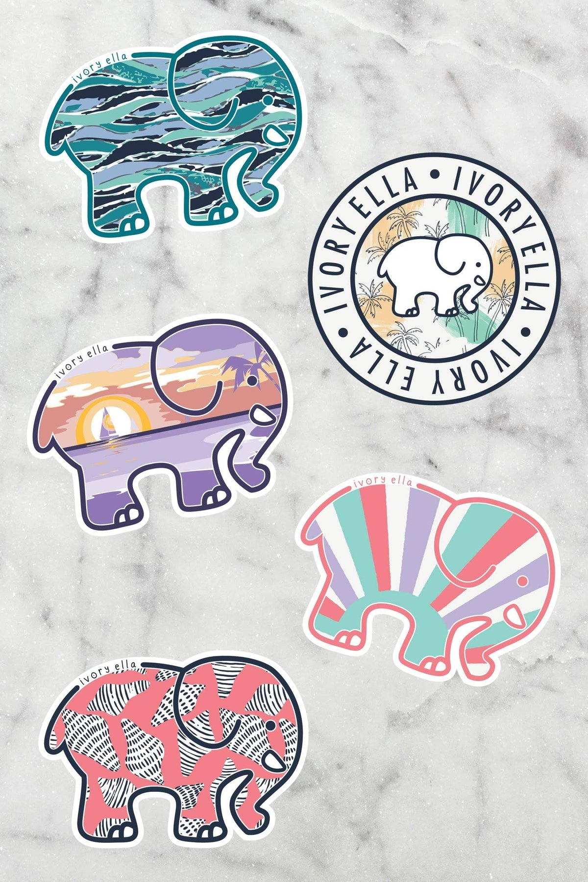 Ivory Ella Accessories OS July Sticker Pack