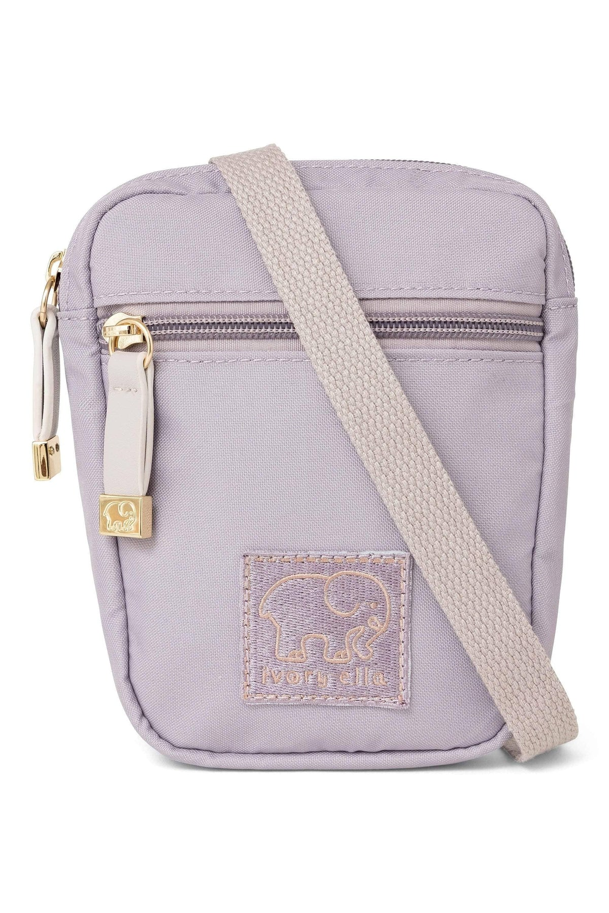 Ivory Ella Accessories OS Lilac Marble Crossbody Zip Bag