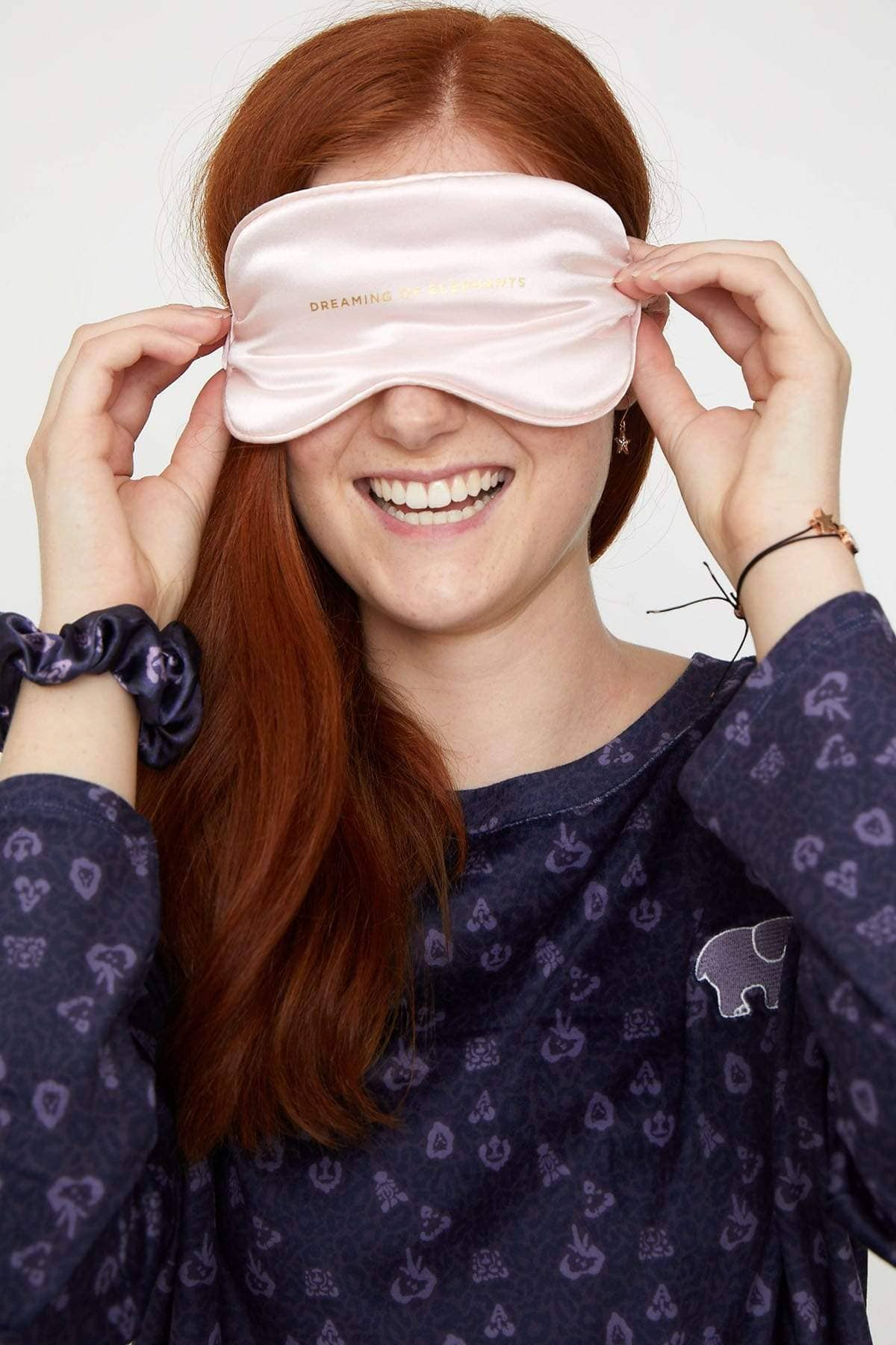 Ivory Ella Accessories OS Pink Silk Sleep Mask