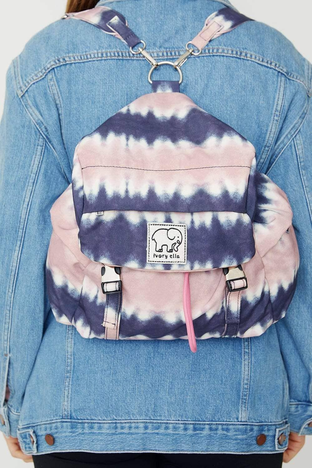 Ivory Ella Accessories OS Pink Tie Dye Mini Backpack