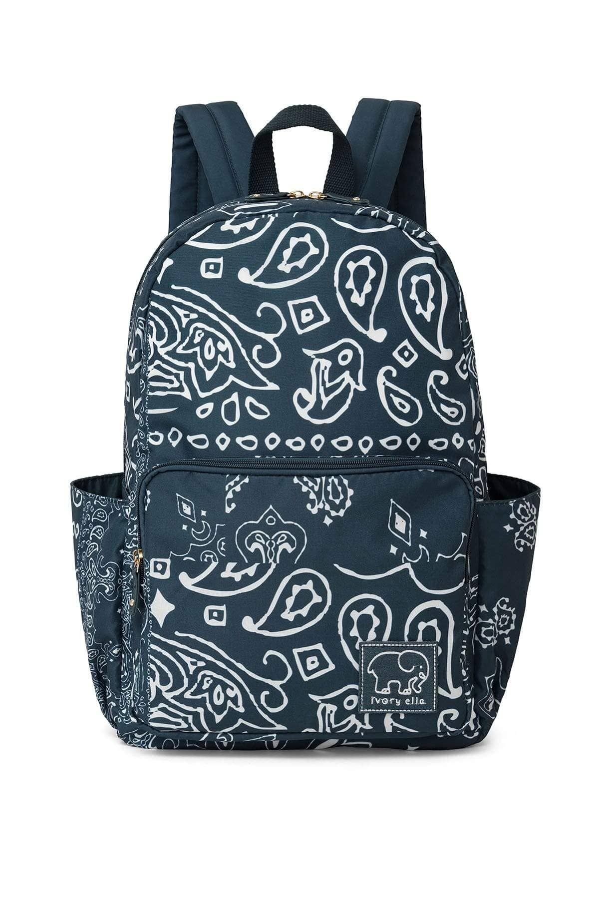 Stargazer Bandana Printed Backpack - Ivory Ella - Accessories