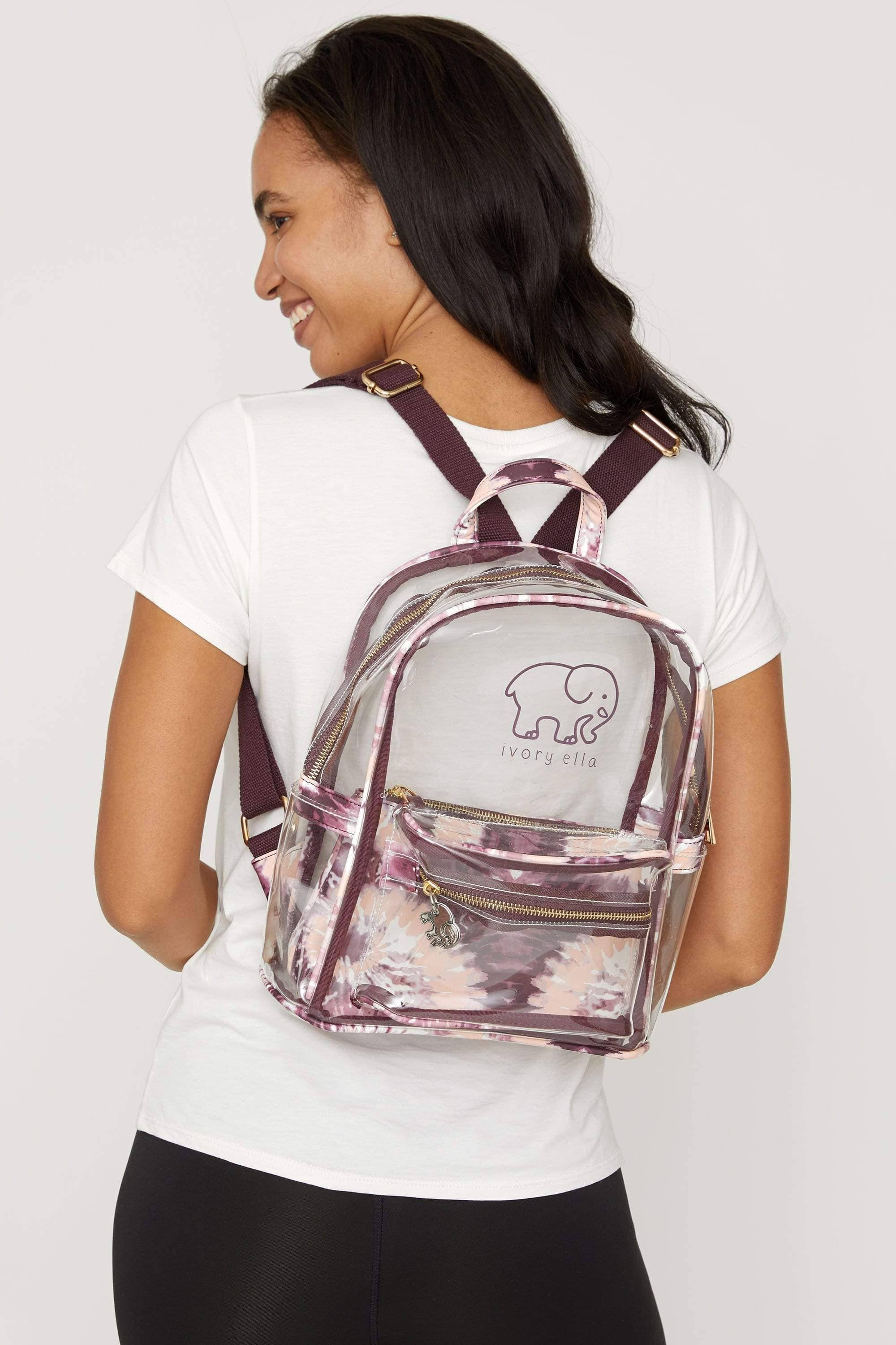 Tie Dye Clearbody Mini Backpack - Ivory Ella - Accessories