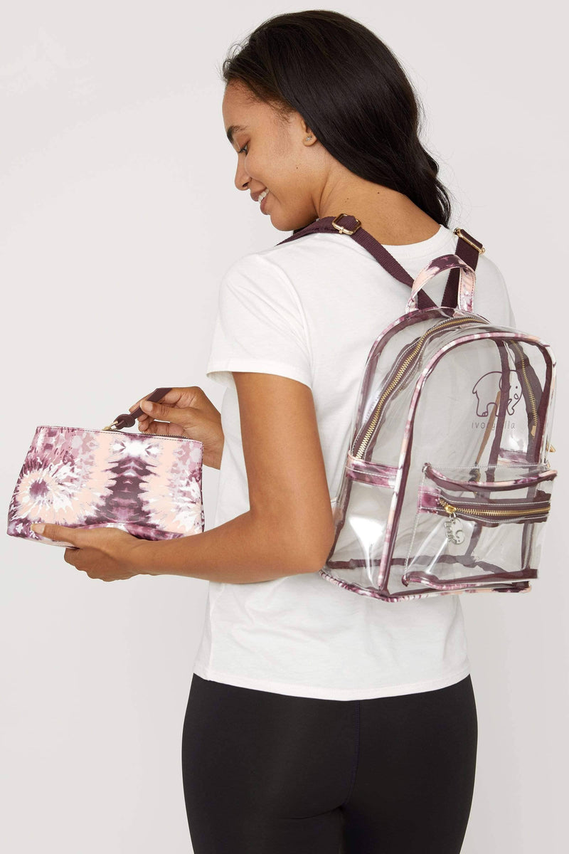 Ivory Ella Accessories OS Tie Dye Clearbody Mini Backpack