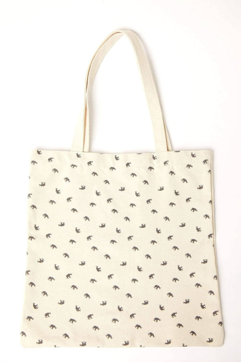 Ivory Ella Accessories OS Tossed Elephant Canvas Tote
