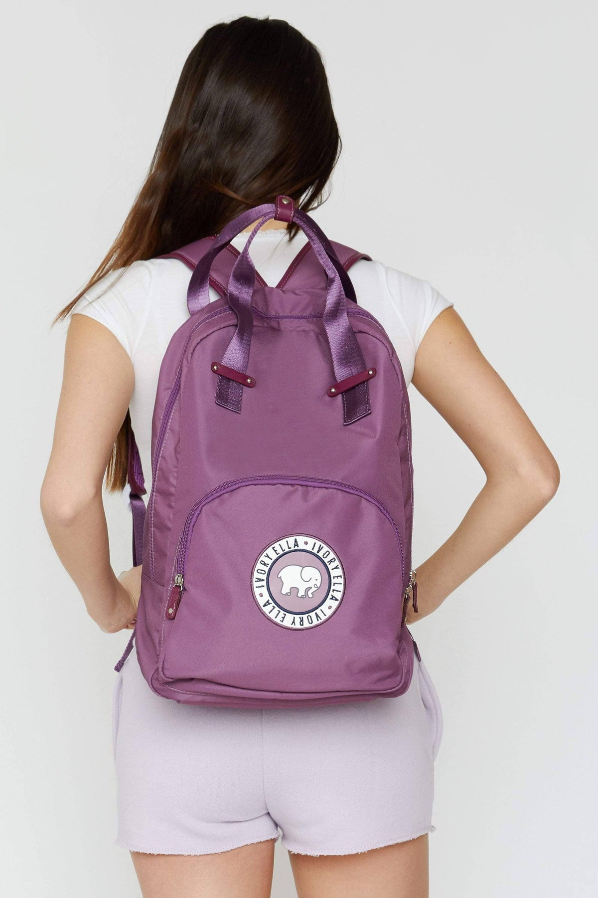 Ivory Ella Accessories Purple Backpack