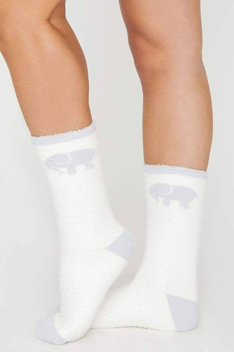 Ivory Ella Accessories Soft White Fuzzy Socks