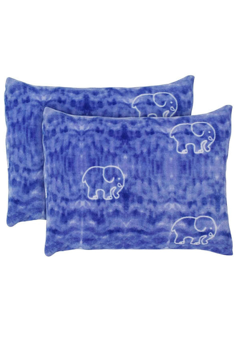 Ivory Ella BEDDING Gia Blue Ultra Soft Plush Pillow Pair