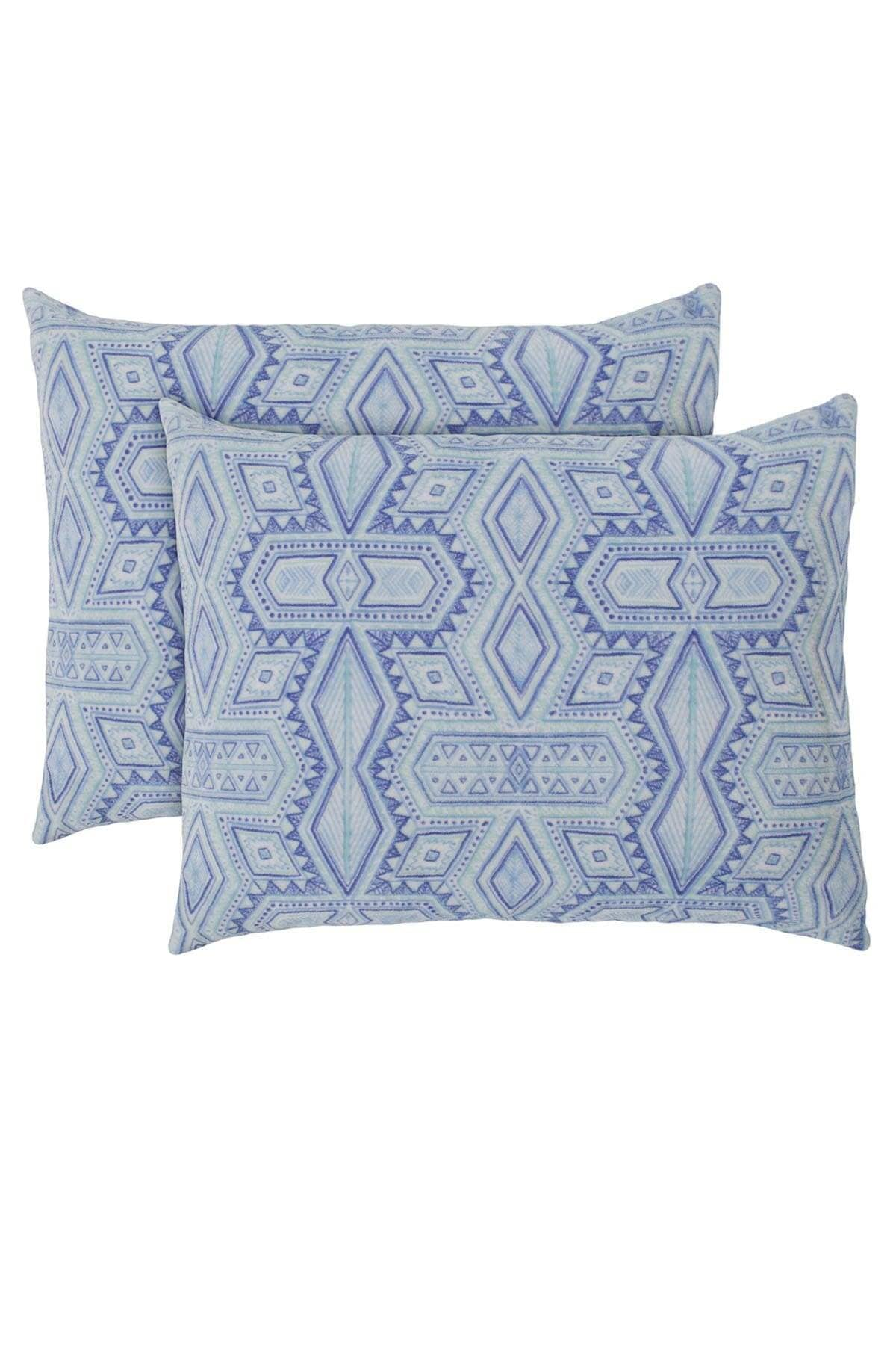 Ivory Ella BEDDING Rory Aqua Ultra Soft Plush Pillow Pair