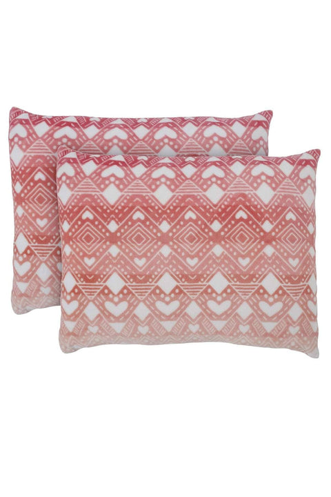 Ivory Ella BEDDING Tessie Coral Ultra Soft Plush Pillow Pair