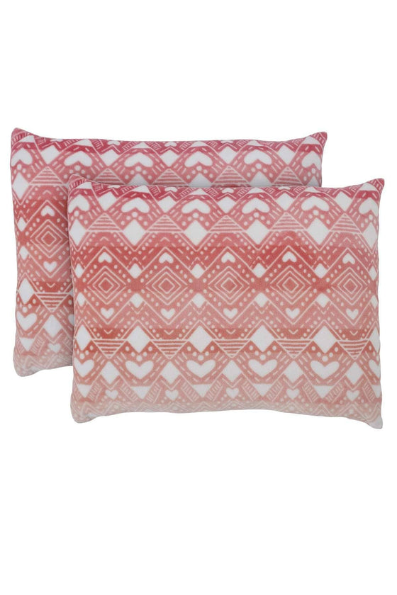 Tessie Coral Ultra Soft Plush Pillow Pair