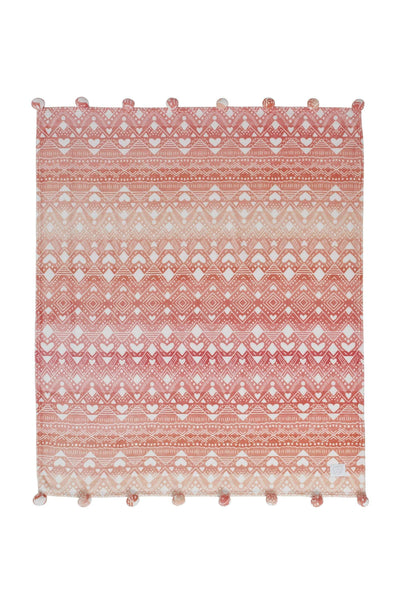 Tessie Coral Ultra Soft Plush Throw - Ivory Ella - Home