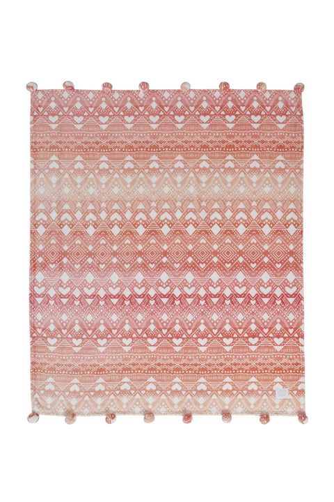 Ivory Ella BEDDING Tessie Coral Ultra Soft Plush Throw