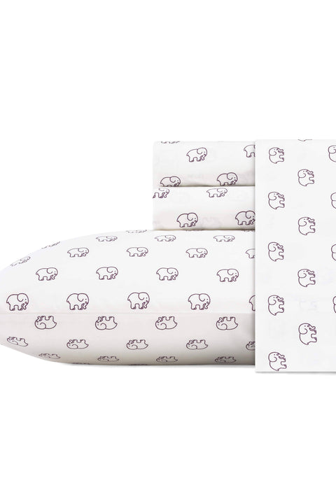 Ivory Ella BEDDING Twin Berry Ella-Toss Sheet Set