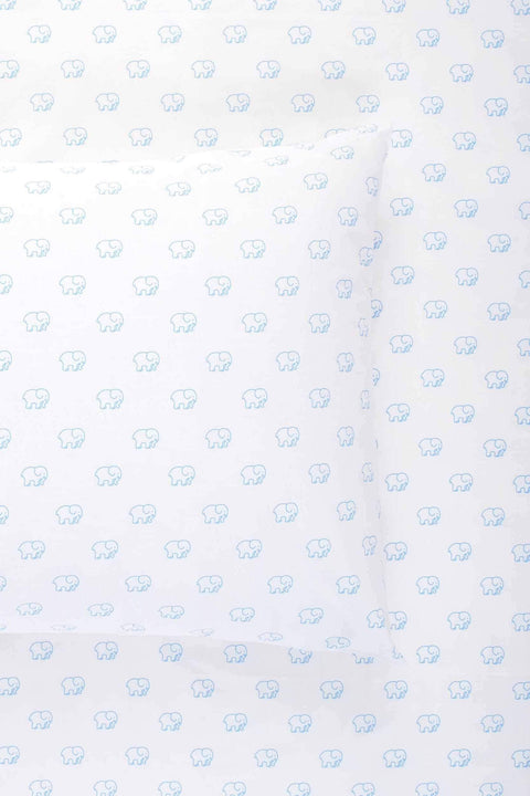 Ivory Ella BEDDING Twin Blue Ella-Toss Sheet Set