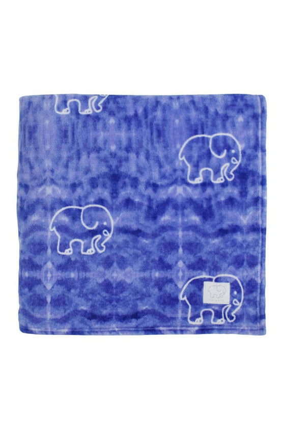 Blue Gia Plush Blanket