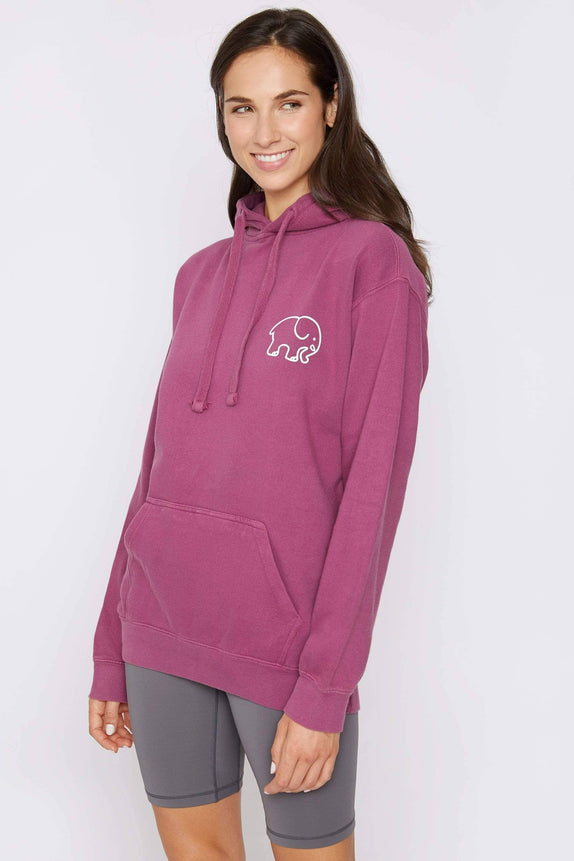 Berry Oversized Cheerleading Hoodie