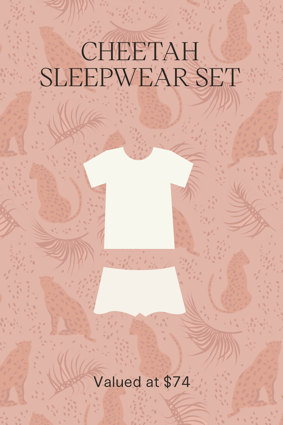 Cheetah Sleepwear Set