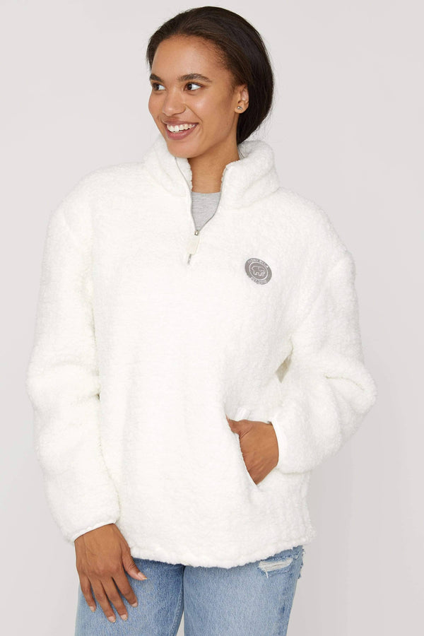 Cloud Quarter Zip Sherpa by Ivory Ella