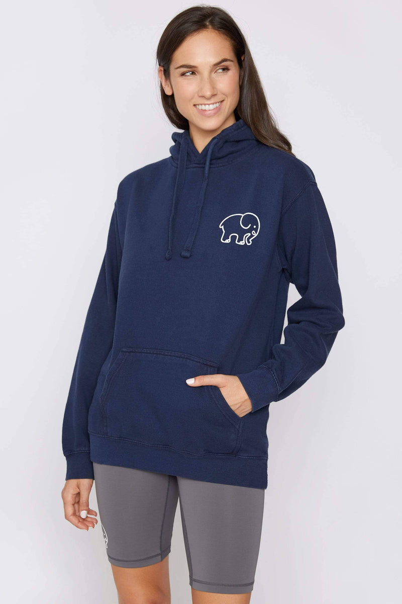 Ivory Ella Women's Sweatshirts Dark Navy Oversized Football Hoodie