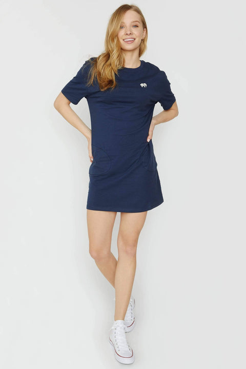 Ivory Ella Dresses XS Dark Navy Tee Shirt Dress