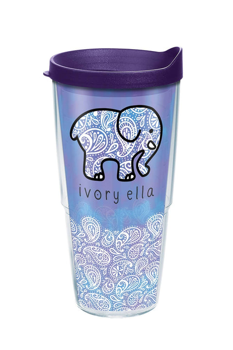 Ivory Ella Drinkware Tervis Frosted Paisley 24oz Tumbler