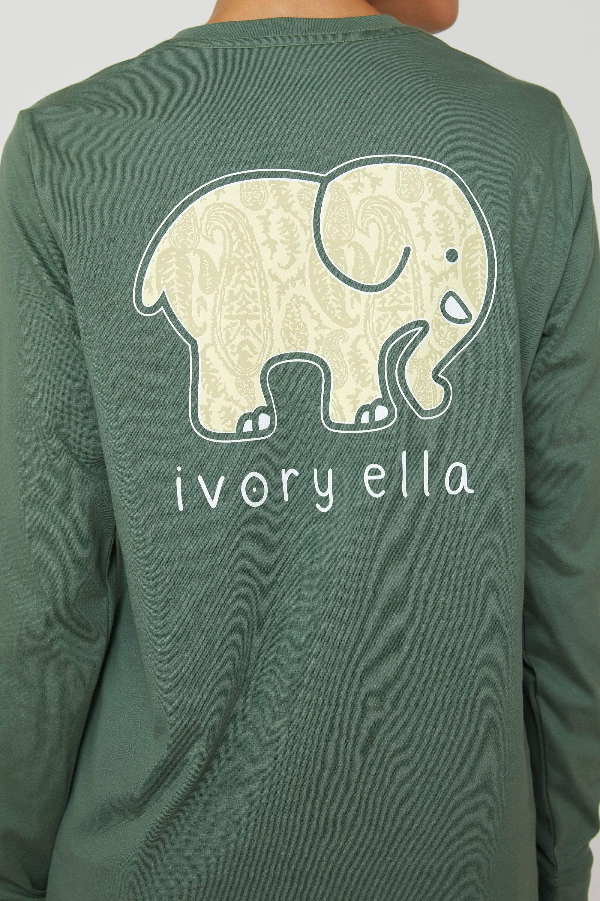 Duck Green Cashemir Long Sleeve Ella Tee - Ivory Ella - Women's Long Sleeve Shirts