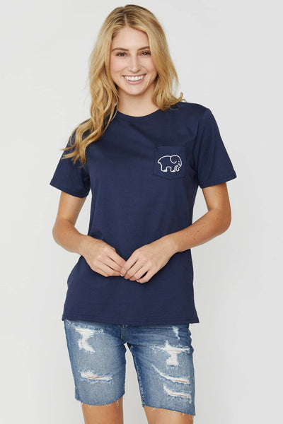 Organic Ella Fit Dark Navy NYC Tee - Ivory Ella - Women's Short Sleeve Tees