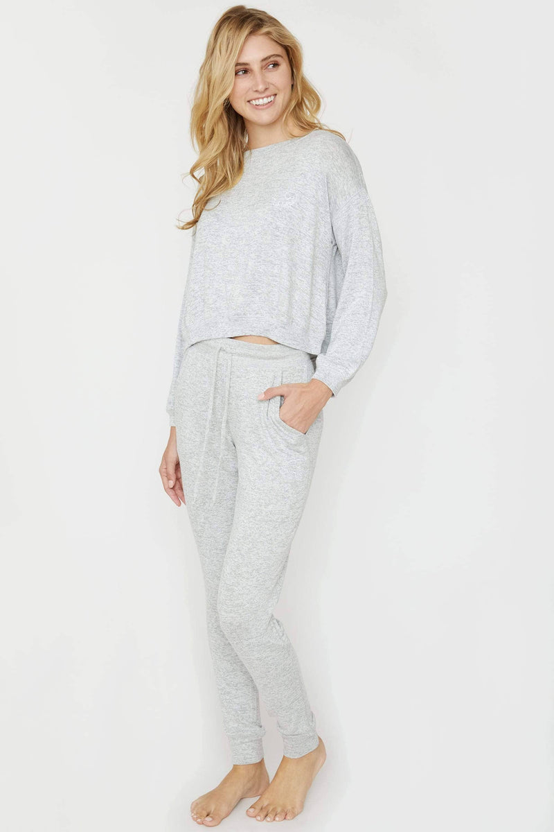 Ivory Ella Heather Grey Cozy Jogger