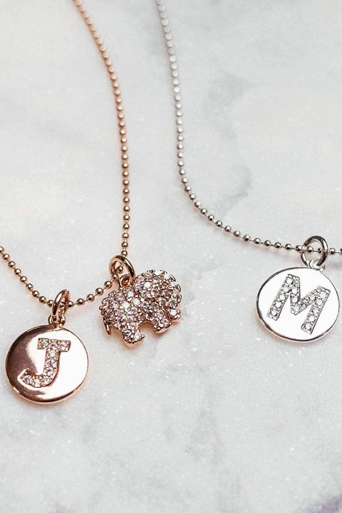 Ivory Ella Jewelry A / Rose Gold Rose Gold Initial Necklace