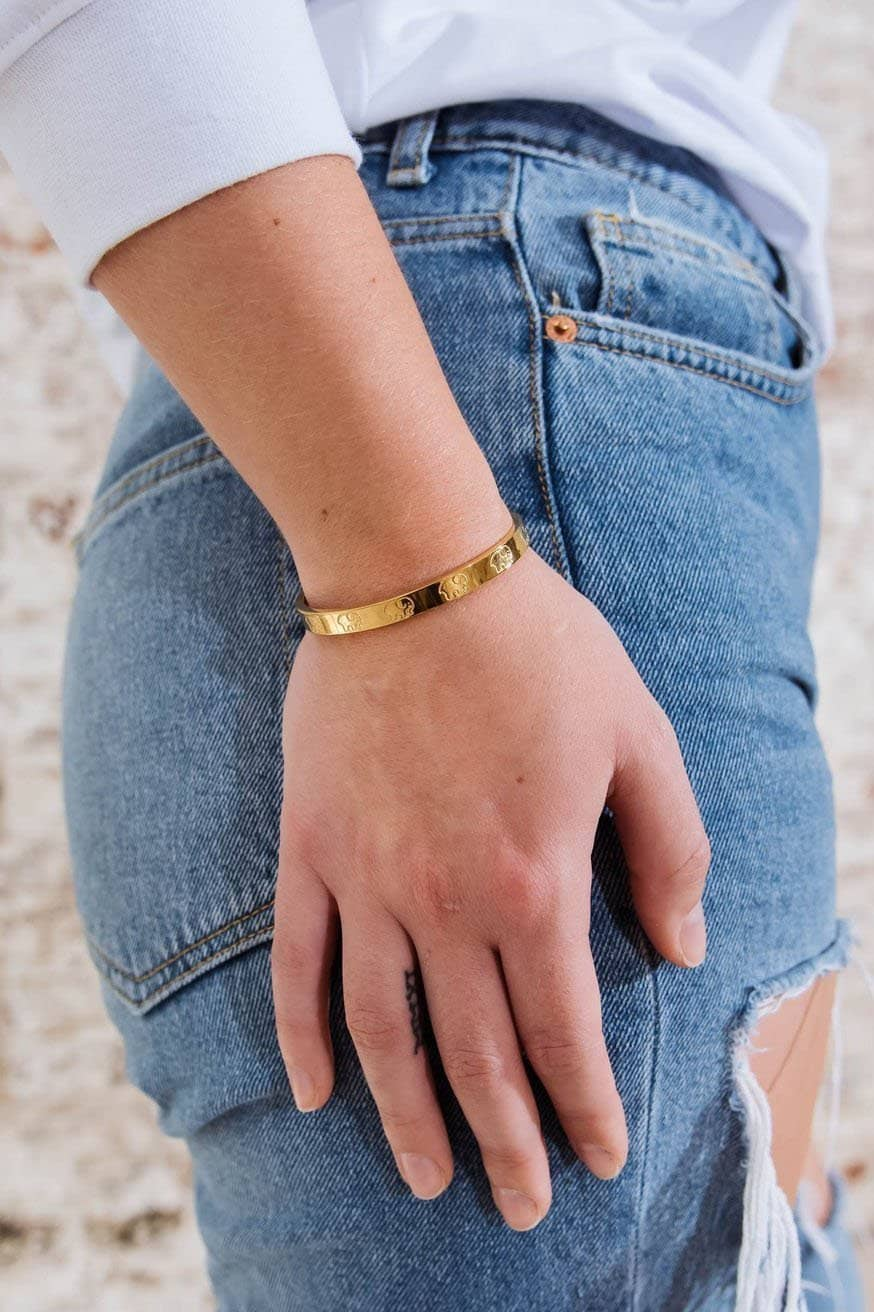 Ivory Ella Jewelry Childhood Cancer Gold Cuff Bracelet