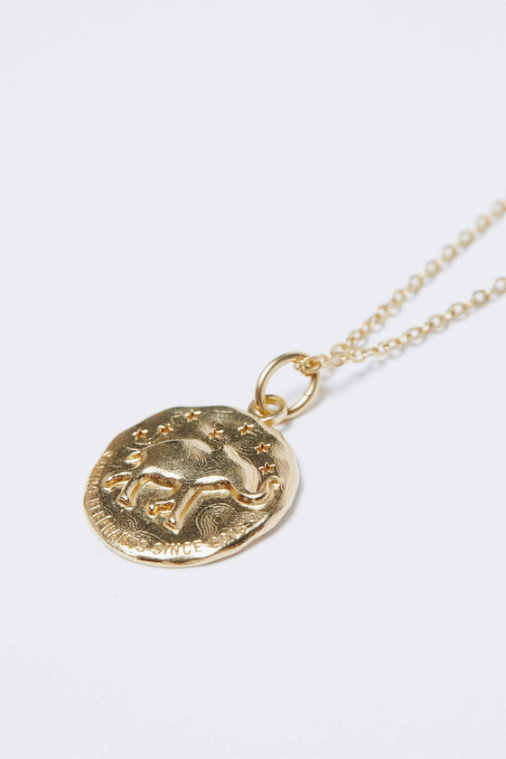 Gold Casted Coin Necklace