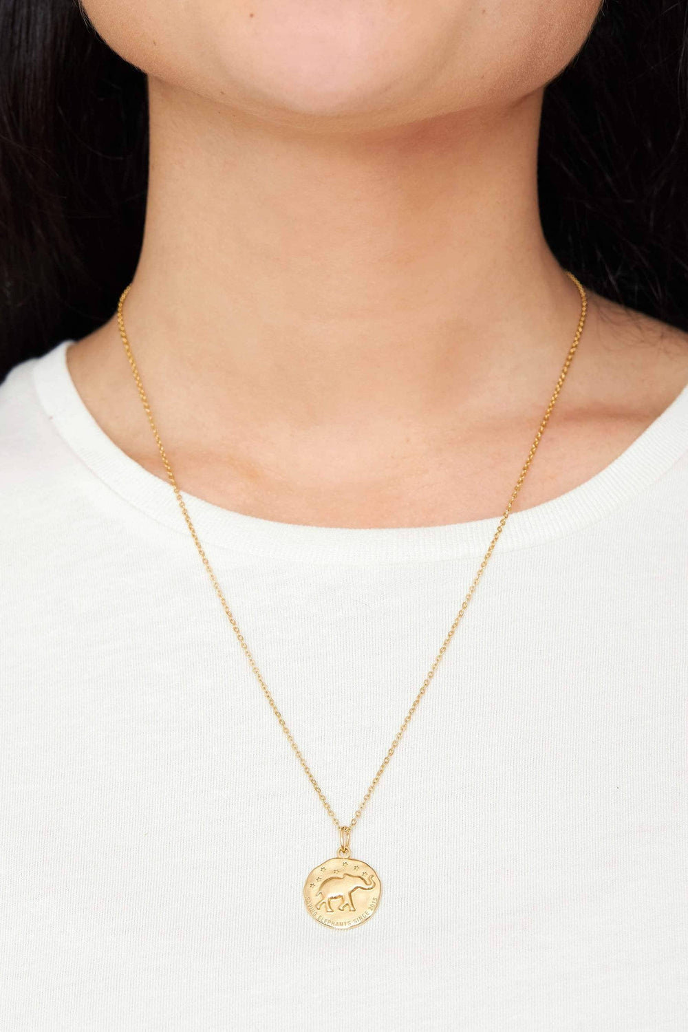 Ivory Ella Jewelry Gold Casted Coin Necklace