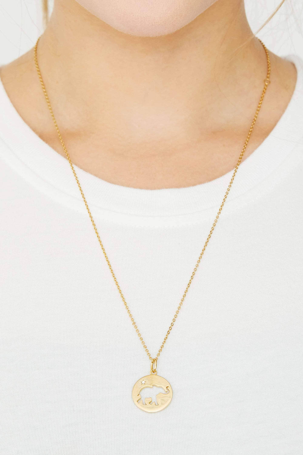 Ivory Ella Jewelry Gold Cut Out Coin Necklace