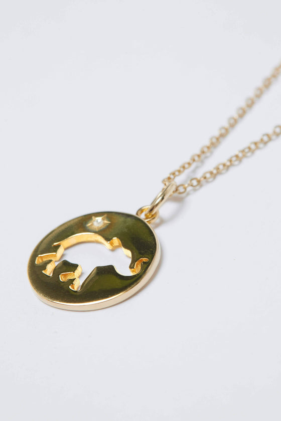 Gold Cut Out Coin Necklace