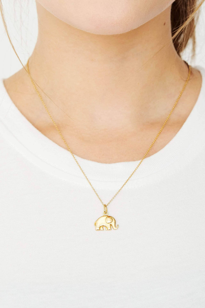 Ivory Ella Jewelry Gold Elephant Charm Necklace
