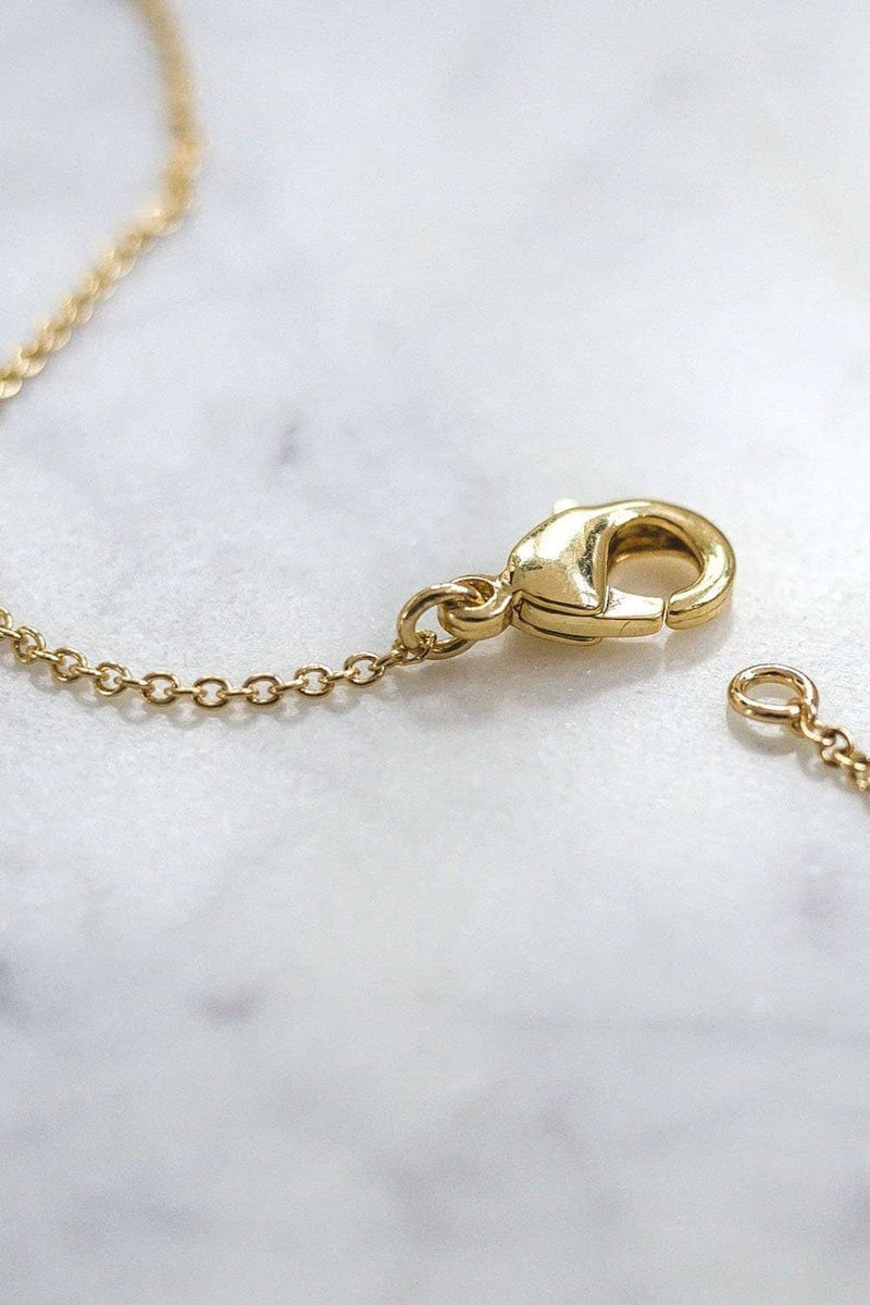 Gold Solid Charm Necklace - Ivory Ella - Jewelry