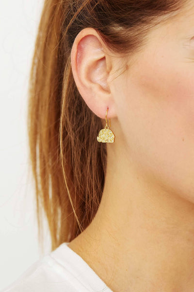 Ivory Ella Jewelry Gold Lucky Elephant Charm Earrings