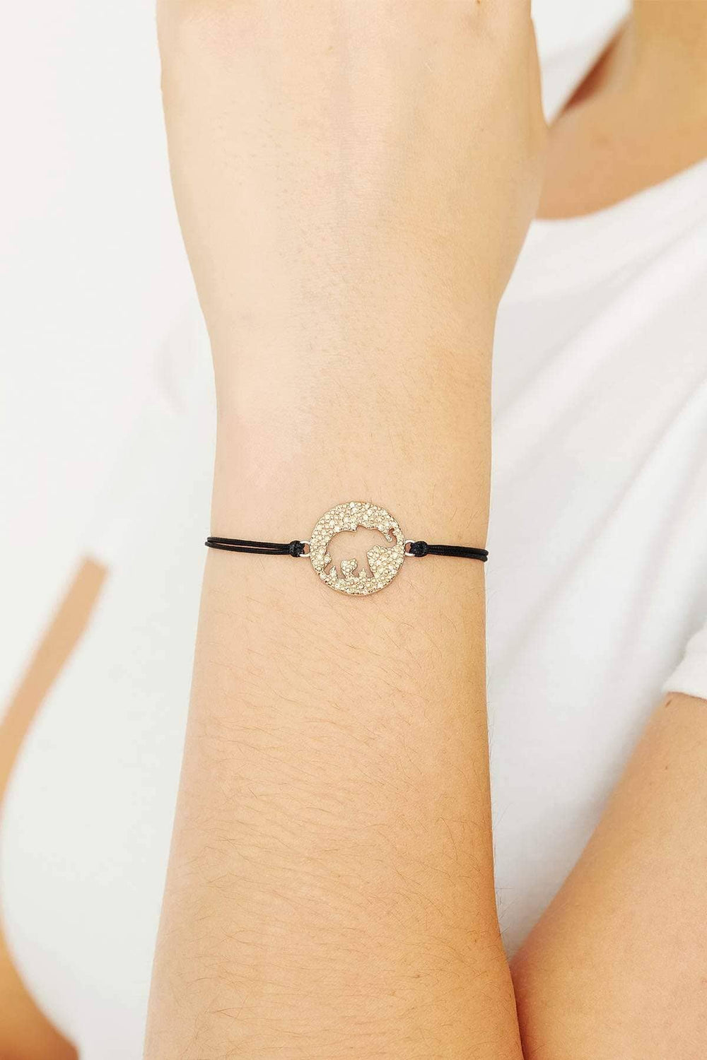 Ivory Ella Jewelry Rose Gold Elephant Cut Out Bracelet