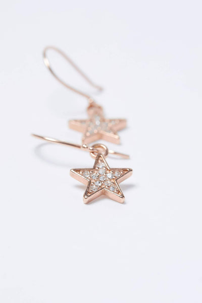 Ivory Ella Jewelry Rose Gold Lucky Star Charm Earring
